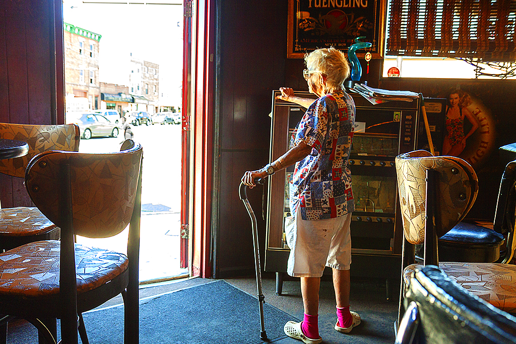 Blanche in Friendly Lounge on 7-16-15--Italian Market