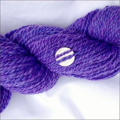 Faerie Purple handspun, close up