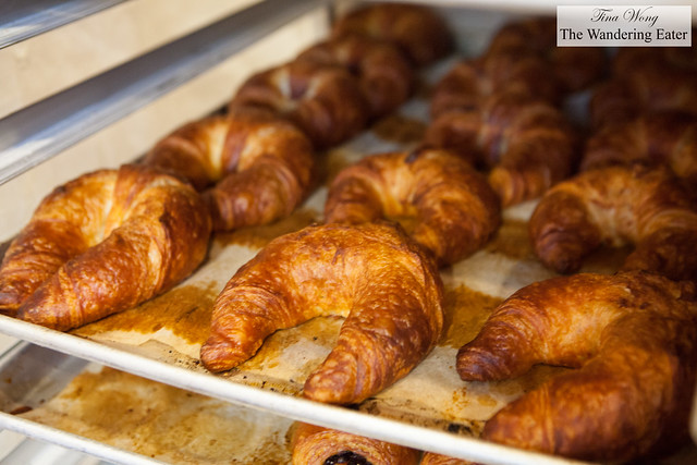 Fresh, buttery croissants