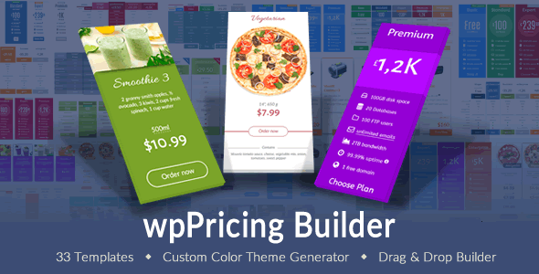wpPricing Builder v1.4.5 - WordPress Responsive Pricing Tables