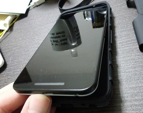 Nexus5xストラップ付きケース