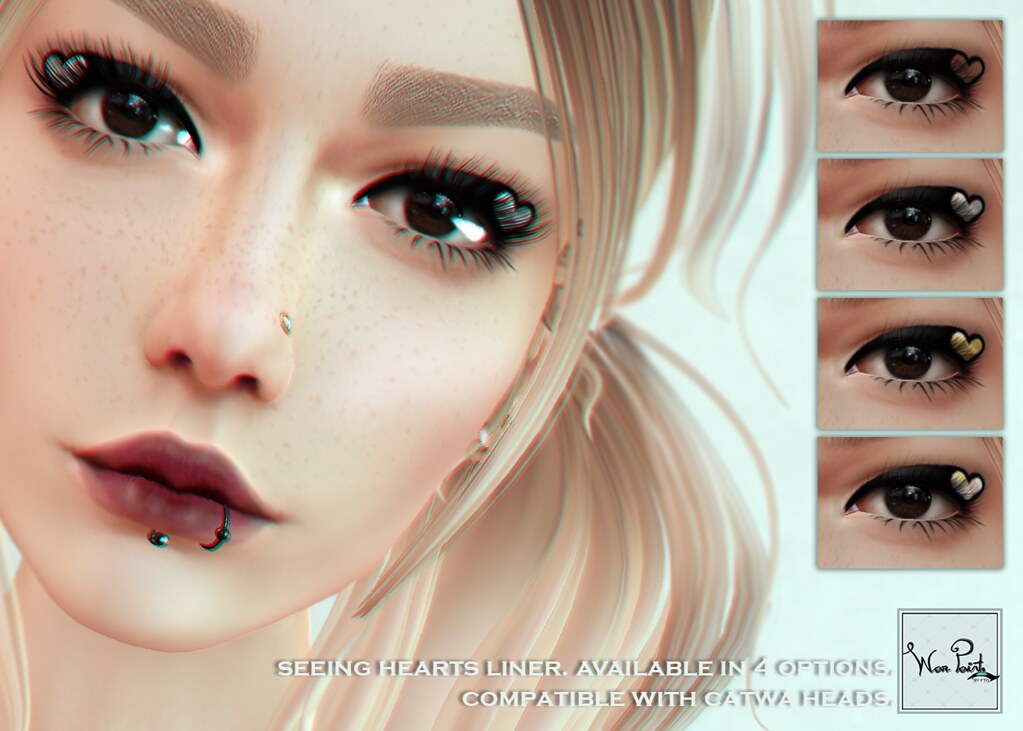 WarPaint* @Appliqué - Seeing Hearts liner - SecondLifeHub.com