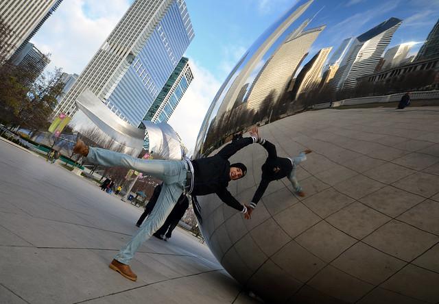 Dos Diario de un Mentiroso en la alubia gigante de Chicago en los Estados Unidos