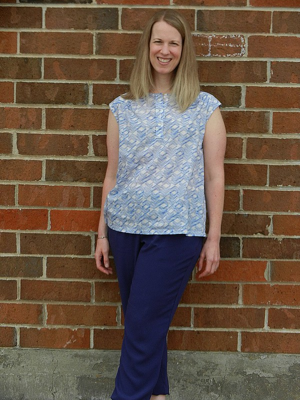 Mercer Tunic Harem Pants Leaning