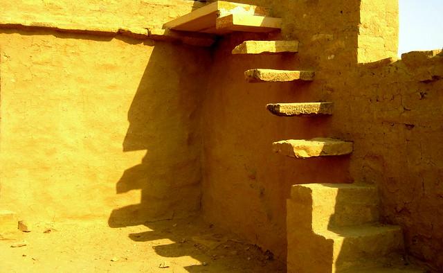 Staircase at Kuldhara, Jaisalmer