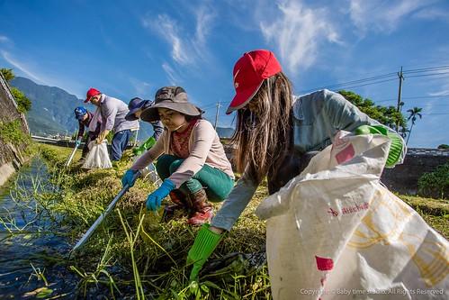 不分男女老少,吳正綱的淨川活動喚起許多人對周遭環境的重視。圖片提供:廖偉縉。