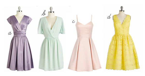pastel dress modcloth