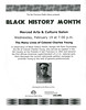 Black History Month program flyer by San Francisco Public Library Branch Archives
