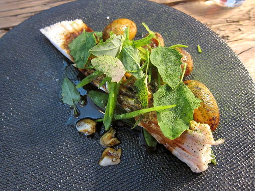 Skate, Mangetout and Potatoes