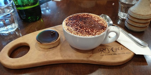 Stirling. Red Cacao cafe. Cappuccino and salted caramel tart. | by denisbin