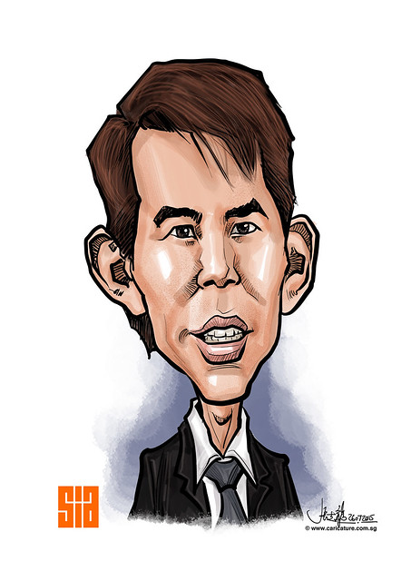 Digital caricature for Singapore Institute of Architects - 2