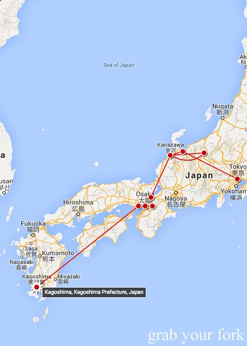 Sashimi Chicken Kurobuta Pork And Wagyu Beef In Kagoshima Kyushu - Japan map kagoshima