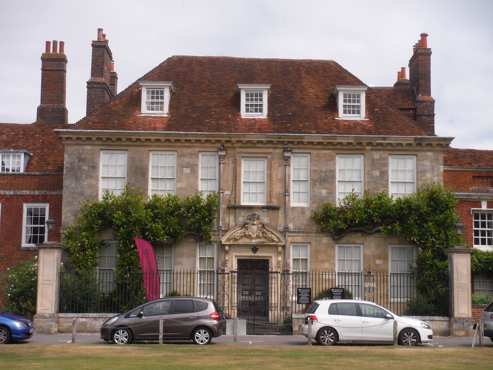 Mompesson House, from across Choristers Green SWC Walk 254 Salisbury Circular