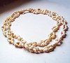 Vintage Very Long Shell Necklace - Ivory-Colored Shells