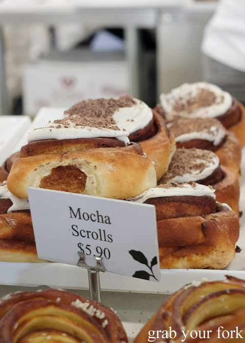Mocha scrolls at Oregano Bakery, South Hurstville