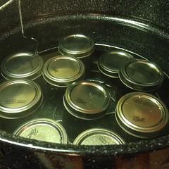 Processing!  #homemade #jam #blueberry #omnomnom
