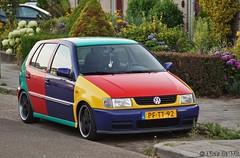 automobile(1.0), automotive exterior(1.0), supermini(1.0), volkswagen(1.0), vehicle(1.0), city car(1.0), compact car(1.0), bumper(1.0), volkswagen polo(1.0), land vehicle(1.0), hatchback(1.0),