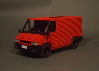 The TLCB office (Lego Ford Transit)