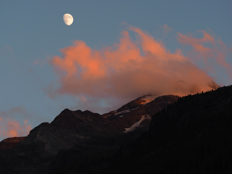 Red Cloud And The Moon