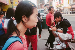Busy corner in Flushing Queens