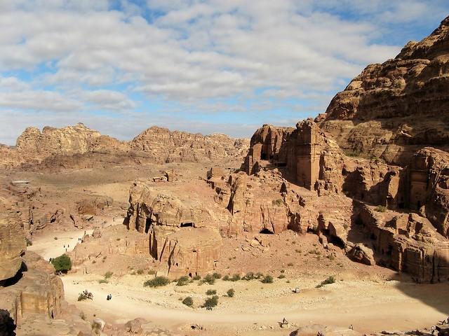 Petra ruins wide