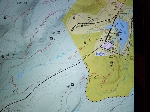 Map of Beaver Dam Trail and Souders Trail, which we hiked
