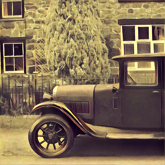 Antique Austin in Wales - Prisma filter