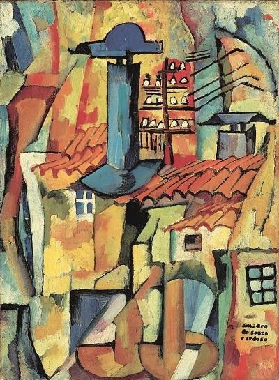 29.- Azenhas, 1915. óleo sobre tela, coleção particular em depósito no museu Municipal amadeo Souza-Cardoso