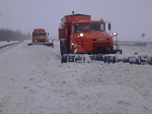 Дорога сніг прибирання