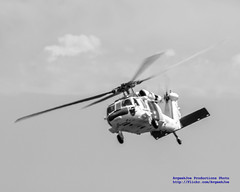 NAS WHIDBEY MH-60S KNIGHTHAWK IN BLACK & WHITE