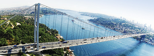 Istanbul Bosphorous-bridge-panorama-web