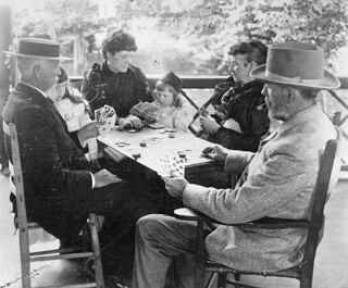 A card game at the Bayley cottage near Long Branch, Ontario, 1893 / Une partie de cartes au chalet Bayley, près de Long Branch (Ontario), en 1893