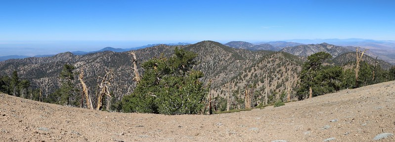 Panorama view west from the summit of Mount Baden-Powell