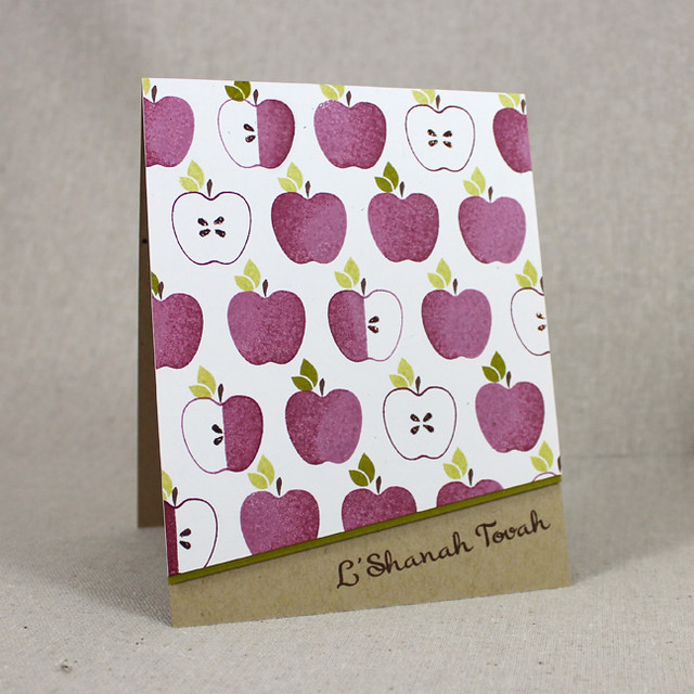 Apple Pattern L'Shanah Tovah Card