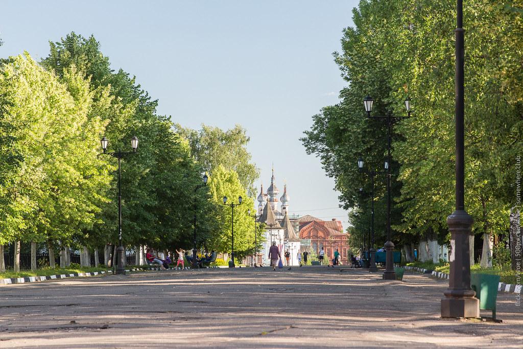 Вид на Михайло-Архангельский монастырь в Юрьеве-Польском