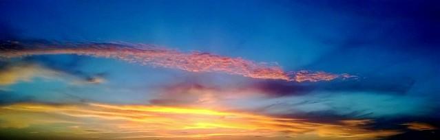 il cielo sul fiume Po