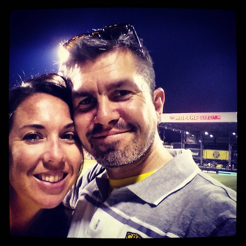 Us at #MapfreStadium for #CrewSC versus #TorontoFC. The match was a 3-3 draw with 5 of the goals scored right in front of us!