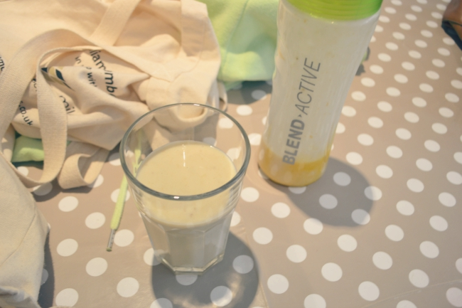 coconut and banana cake smoothie