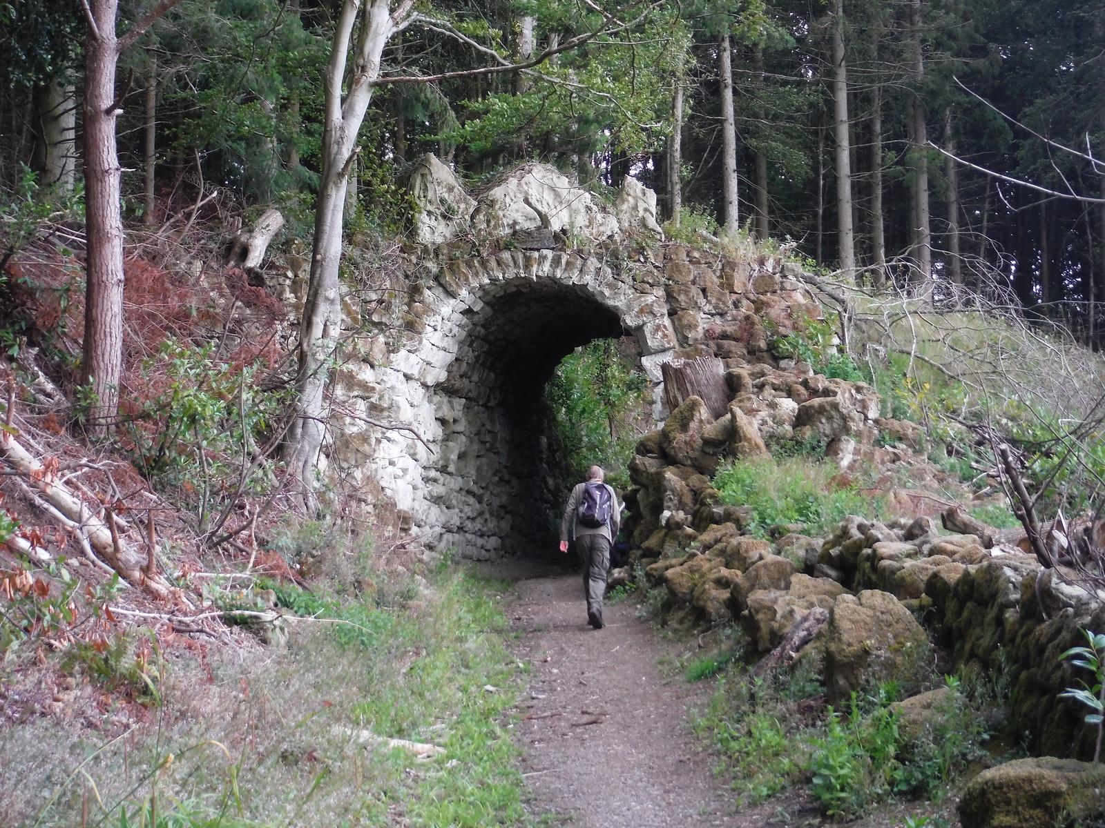 Remnants of historic entrance gate, Old Wardour Castle SWC Walk 252 Tisbury Circular via Donhead St. Andrew