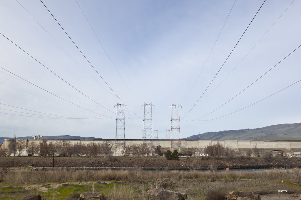 Power lines at the dam