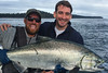 47-pound Chinook salmon at Langara Island Lodge