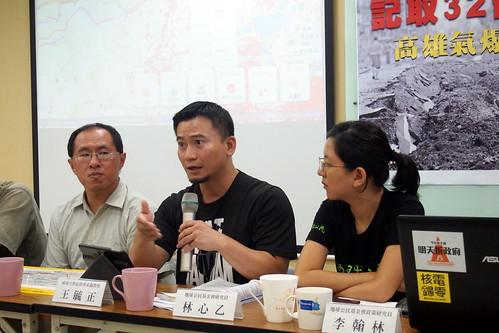 成大法律副教授王毓正說中央地方大鬥法造成法令規範制定停滯不前。李育琴攝