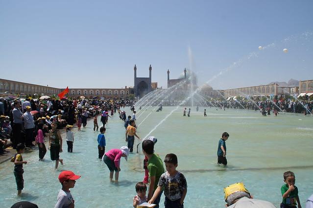 Badespaß am Quds-Tag, Isfahan