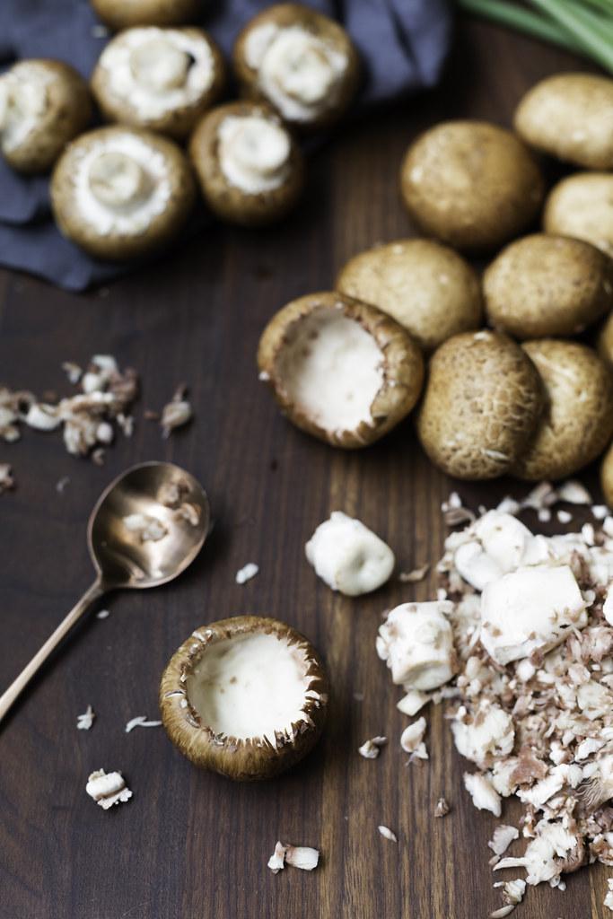 hollowed mushroom caps