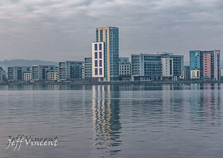 View across Cardiff Bay