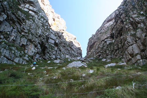 The switchbacks of Platteklip Gorge Hike, Table Mountain