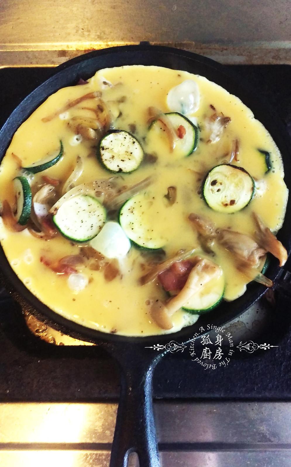 孤身廚房-清冰箱簡單早午餐!培根野菇櫛瓜義式烘蛋Frittata16