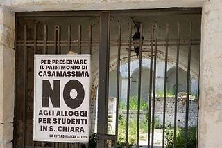 Casamassima- Santa Chiara-Lo striscione di protesta