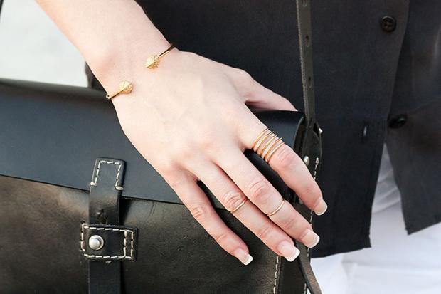Stella and Dot Ring, Gold Ring, Madewell Bag
