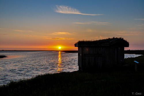 sunset sonnenuntergang beobachtungshütte nordstrand2012